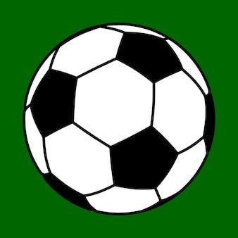Un gros ballon de football sur fond vert.
