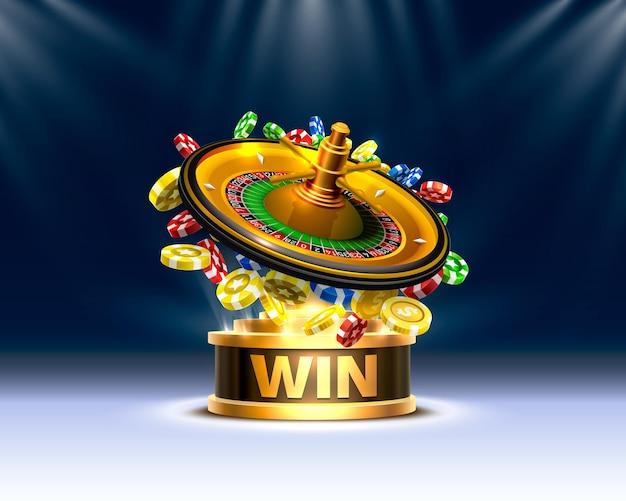 Gros gains de pièces de roulette de casino