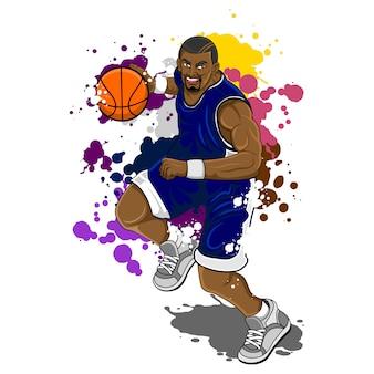 Gros homme basketball