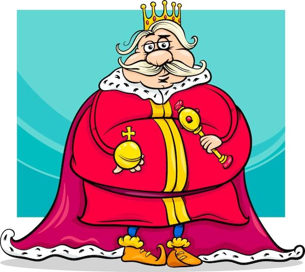 Gros personnage de dessin animé de roi de fantaisie