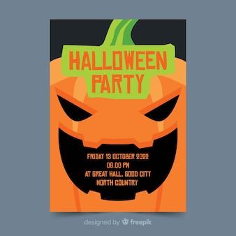 Gros plan flyer plat de fête d'halloween