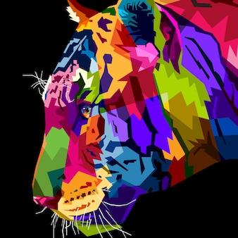 Gros plan tête tigre