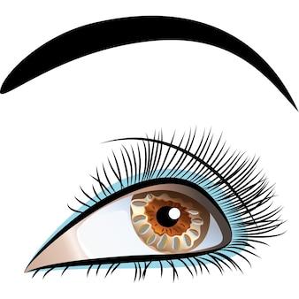 Gros plan de vecteur de bel œil féminin
