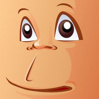 Gros plan le visage du singe.