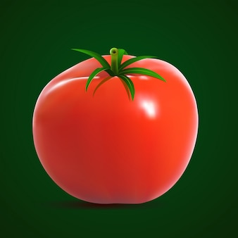 Grosse tomate rouge mûre.