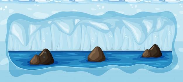 Une grotte glaciale souterraine