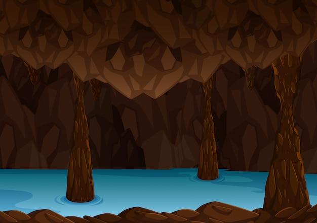 Grotte souterraine avec rivière