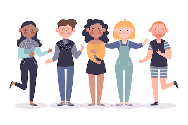 Groupe d'amis illustration