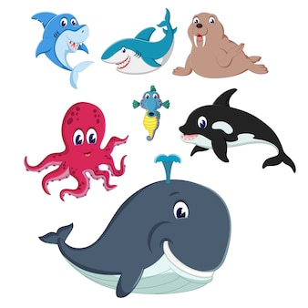 Un groupe d'animaux sealife