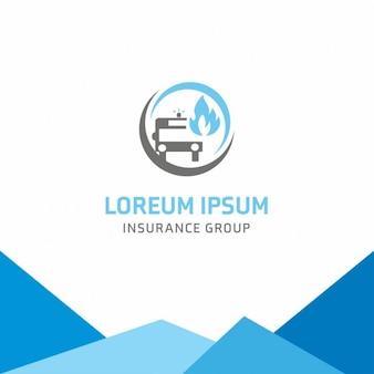 Groupe d'assurance auto logo template