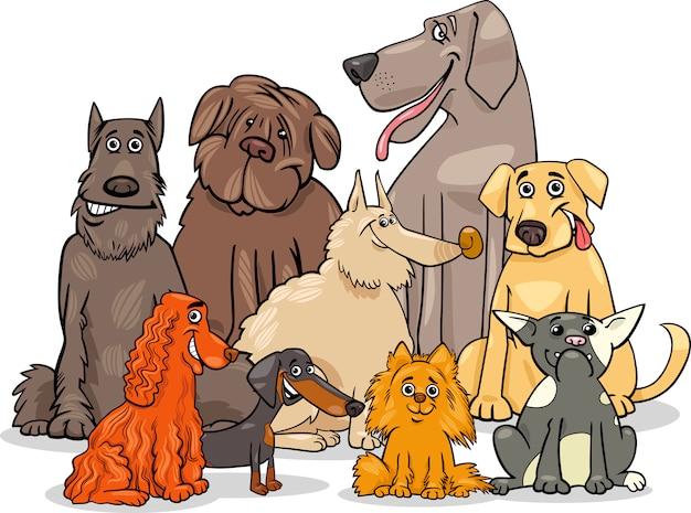 Groupe de caractères de chien de race pure