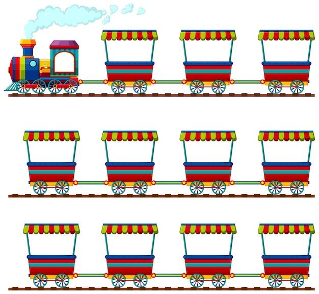 Groupe de chariots couleur art de chemin de fer