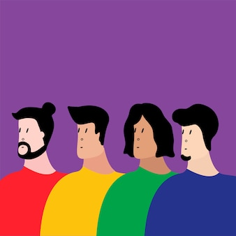 Groupe coloré de personnes illustration vectorielle