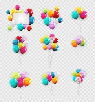 Groupe de couleur hélium brillant