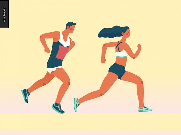 Groupe de course marathon