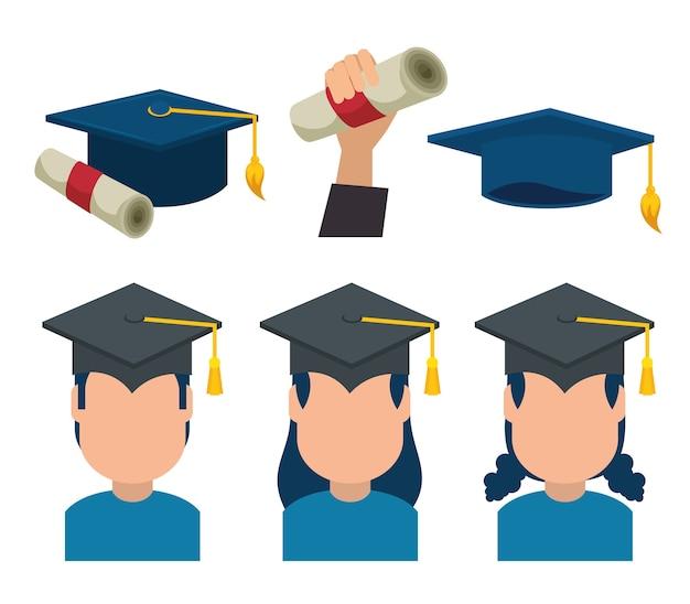 Groupe de diplômés en uniforme