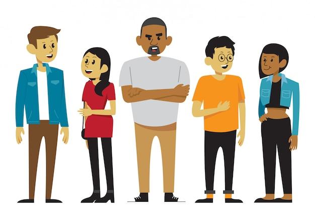 Un groupe diversifié de personnes en vêtements décontractés