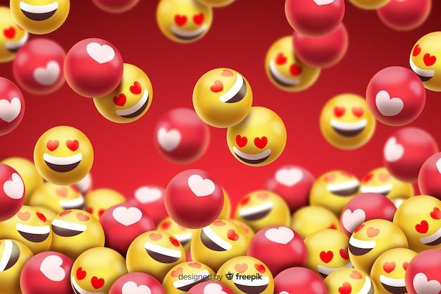 Groupe d'émoticônes smiley d'amour