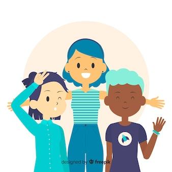 Groupe d'enfants posant pour une photo