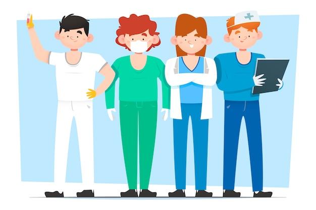 Groupe de l'équipe de santé professionnelle