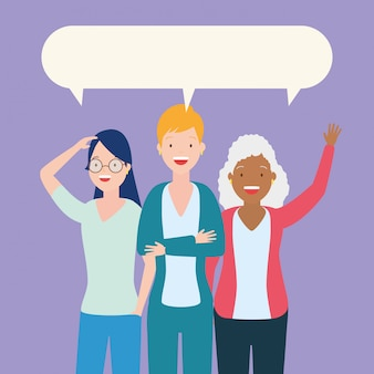 Groupe de femmes qui parlent
