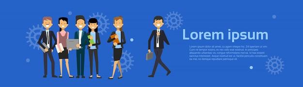 Groupe de gens d'affaires homme d'affaires et femme d'affaires