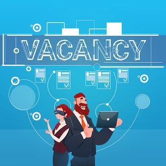 Groupe de gens d'affaires recherche de poste vacant poste d'employé ressources humaines recrutement