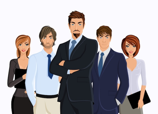 Groupe de gens d'affaires