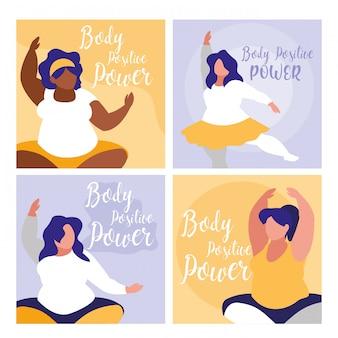 Groupe de grandes femmes exerçant un pouvoir positif