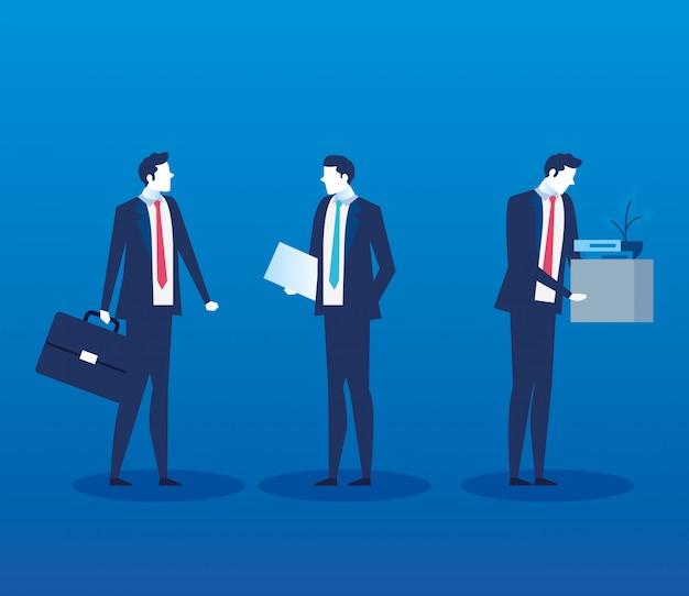 Groupe d'hommes d'affaires avatar sans emploi