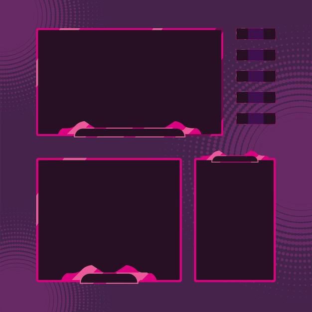 Groupe d'icônes d'écrans de modèles de streaming