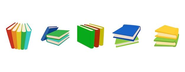 Groupe d'icônes de groupe de livres
