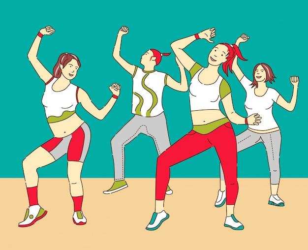Groupe d'illustration de danseurs