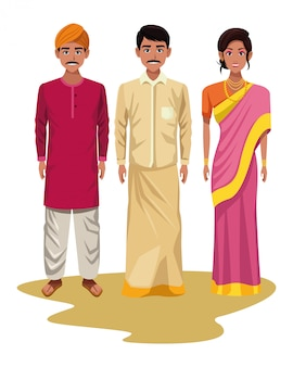 Groupe d'indiens avatar