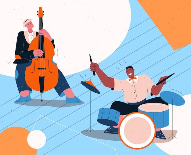 Groupe de jazz jouant de la musique au festival, concert ou sur scène.