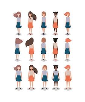 Groupe de jeunes filles