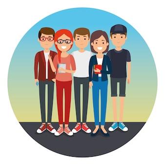 Groupe de jeunes génération génération