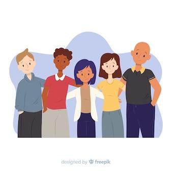 Groupe de jeunes posant pour une photo
