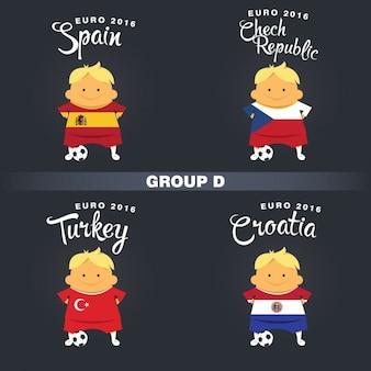 Groupe joueurs de football d