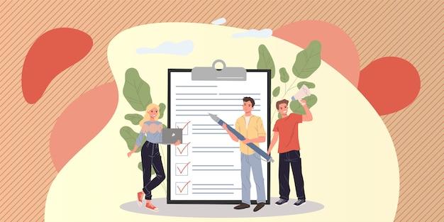 Groupe marketing analysant les commentaires des clients