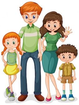 Groupe de membre de la famille