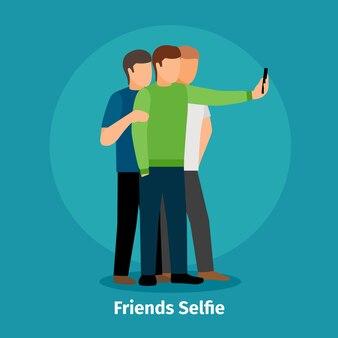 Groupe de mode selfie voir application mobile
