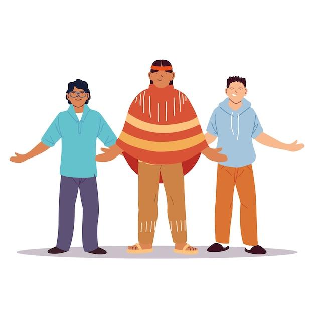 Groupe multiethnique de personnes réunies, diversité ou multiculturalisme.