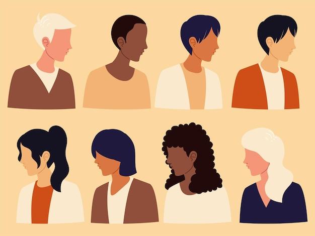 Groupe multiethnique de personnes