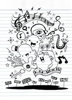 Groupe de musique monster jouant de la musique