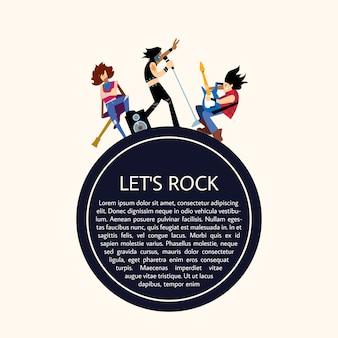 Groupe de musique rock illustration