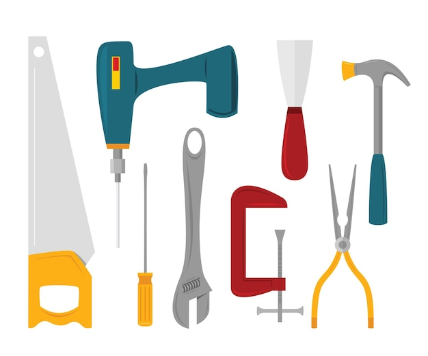 Groupe des outils de bricoleur.