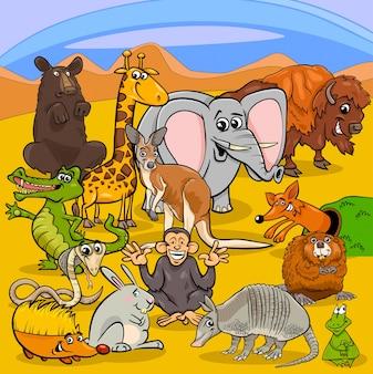 Groupe de personnages animaux de dessin animé