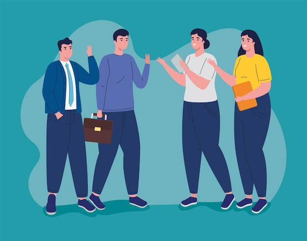 Groupe de personnages avatars de gens d & # 39; affaires