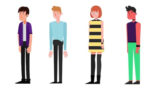 Groupe de personnages isolés illustration vectorielle